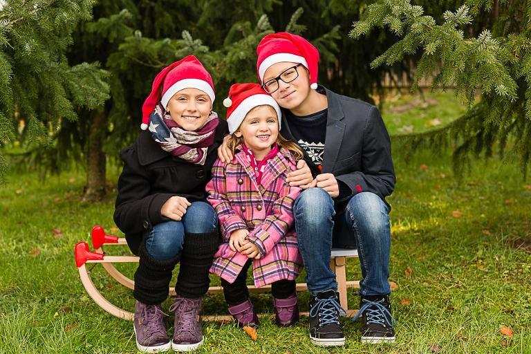 Familienfotos zu Weihnachten vom Fotostudio aus Esslingen
