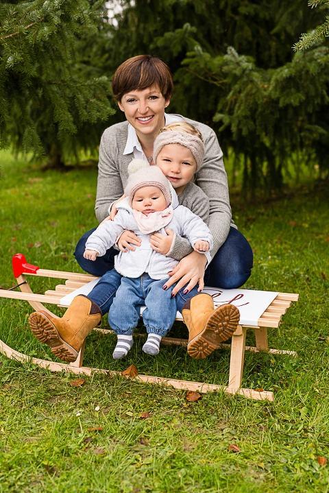 Familienfotos im Winter draußen zum Beispiel in Esslingen