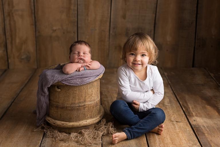 Newborn Fotografie mit Geschwister