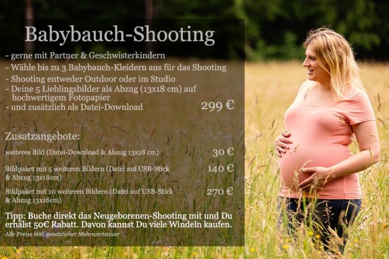 Babybauchshooting Preise
