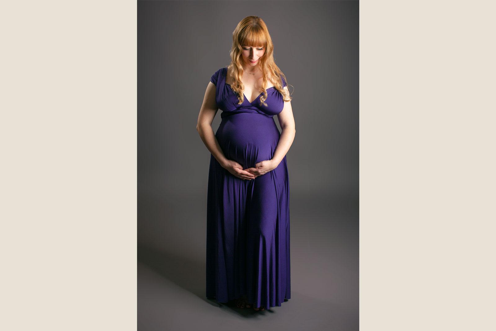 Babybauchkleid für Fotoshooting