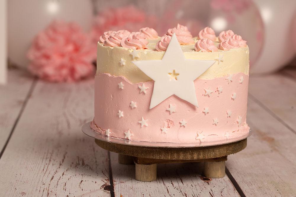 Cake Smash Shooting Torte für Mädchen
